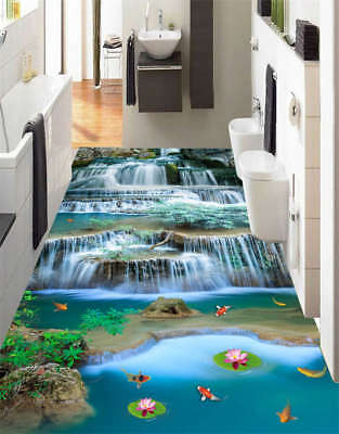3d fische teich boden wand tattoo aufkleber decal abnehmbar sticker zimmer bad eur 4 99. Black Bedroom Furniture Sets. Home Design Ideas