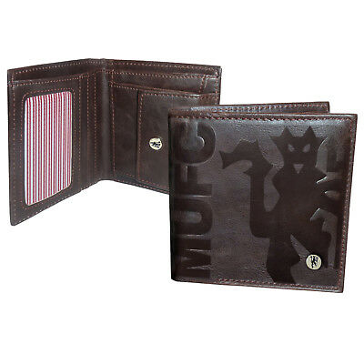 Manchester United FC Official Football Gift Luxury Brown Faux Leather Wallet
