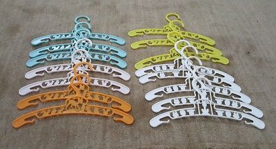 15 Vintage Baby/Child Plastic Clothes Hangers Bambi and Cat