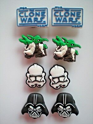 Jibbitz Croc Clog Shoe Charm Plug Buttons Bands Belts 8 Star Wars Accessorie