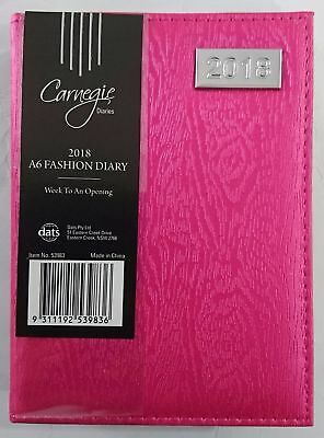 New 2018 Diary Fancy Cover A6 Week To Page Small Women's Diary A6-Pink