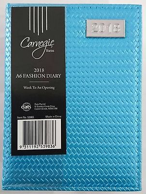 New 2018 Diary Fancy Cover A6 Week To Page Small Women's Diary A6-Blue