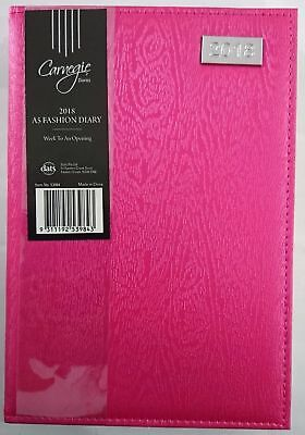 New 2018 Diary Fancy Cover A5 Week To Page Women's Diary Week To An Opening-Pink