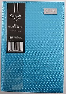 New 2018 Diary Fancy Cover A5 Week To Page Women's Diary Week To An Opening-Blue