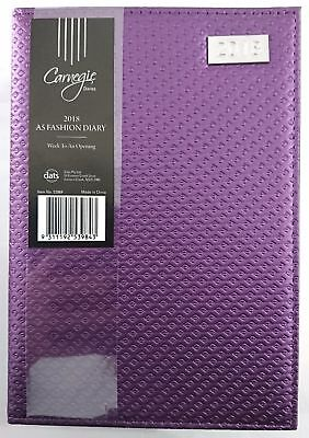 2018 Diary Fancy Cover A5 Week To Page Women's Diary Week To An Opening-Purple