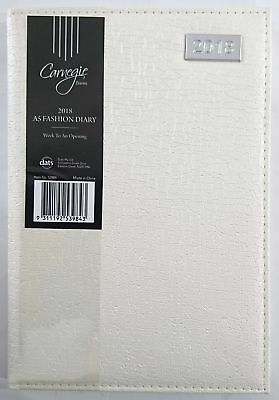 2018 Diary Fancy Cover A5 Week To Page Women's Diary Week To An Opening-White