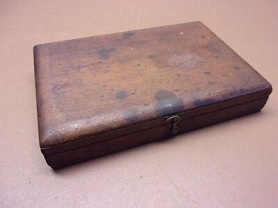 Vtg S.W. CARD Small TAP AND DIE SET in ORG. WOODEN CASE 8 Dies 4 Taps + Misc.