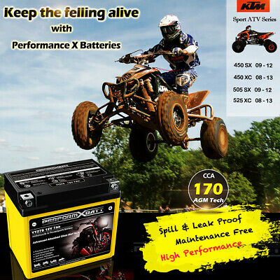 AGM Motorcycle Battery ATV KTM 450 SX 505 SX 450 XC 505 XC 525 XC Upgrades YTX5L