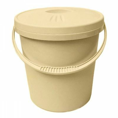 Junior Joy 16L Nappy Pail Bin with Lid Hygienic Storage Disposal Solution, Cream