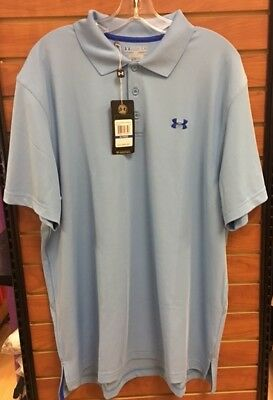 Under Armour Men's UA HeatGear Performance Loose Fit Short Sleeve Golf Polo NWT