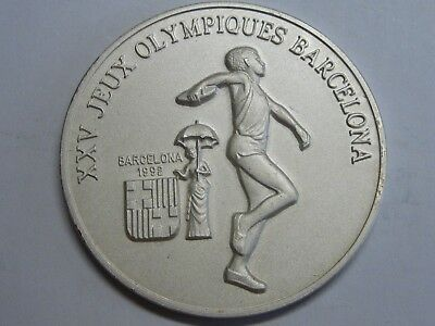 1988 Guinee 100 Francs Xxv Barcelona 1992 Silver Coin