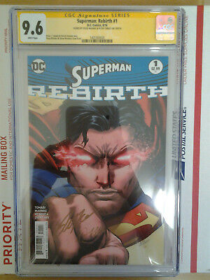 Superman Rebirth #1 Cgc Ss 9.6 Signed By Doug Mahnke & Peter J. Tomasi