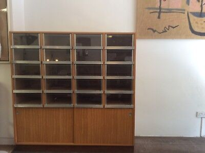 Haberdashery cabinet/1960's chest of draws/Vintage shop cabinet/industrial draws