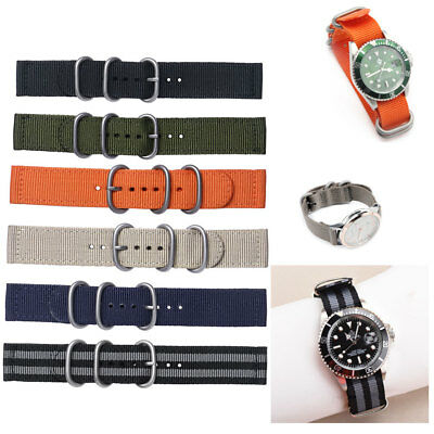 Nato Watch Strap Military Army Nylon Watch Band Divers Buckle Spring Bars New