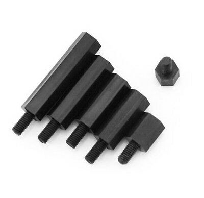 Nylon Hex Standoffs Support Spacer Support Screws M3 M4 Black male female