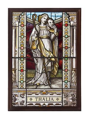 Last Call!!! Rare 19Thc Orig Handsigned Stained Glass Window A.l. Moore