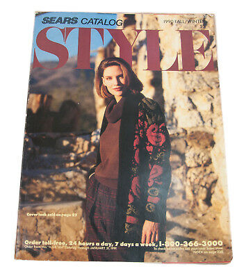 Vtg Sears, Roebuck and Co. 1990 Fall Winter Catalog 475 pages