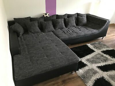 ecksofa grau schwarz 2 80m breit liegefl che 2 meter tief eur 1 00 picclick de. Black Bedroom Furniture Sets. Home Design Ideas