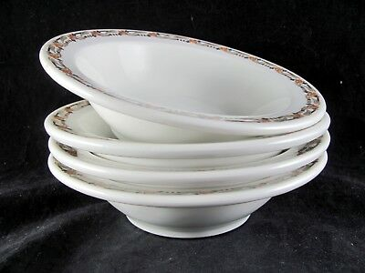 """4 Syracuse China Glendale Rim Cereal Bowls, 6-1/2"""", soup, 2 sets avail, O.P. Co"""