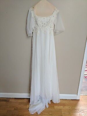 Vintage 1970's Biachi Wedding Gown and Matching Veil