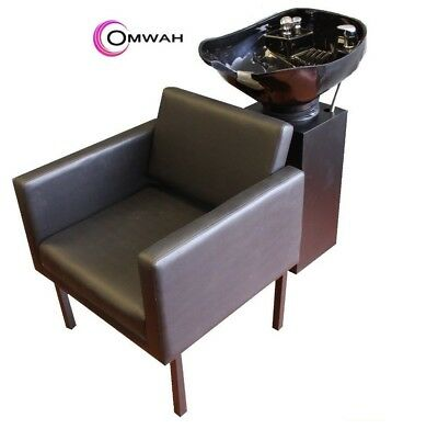 Beauty Salon Shampoo Chair Backwash Station Unit Adjustable Plastic Bowl Sink