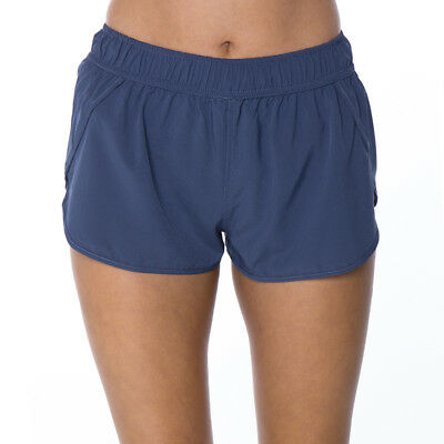 Bounce Activewear Macey Shorts in Blue