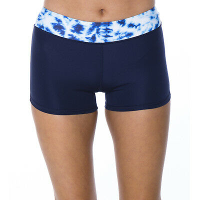 Bounce Activewear Karma Shorts in Blue