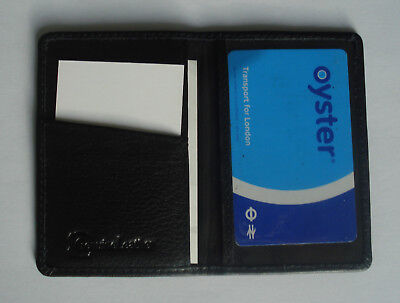 Premium LEATHER Travel Card Holder OYSTER WALLET Bus Pass Ticket soft Slim new