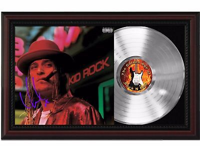 Kid Rock - Platinum LP Record With Reprinted Autograph In Cherry Wood Frame
