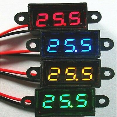 Waterproof 0.28 DC 3.5-30V Mini Digital LED Voltmeter Volt Meter F 12V Car Moto