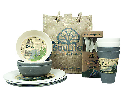 EcoSouLife Bamboo - Picnic Set for 4