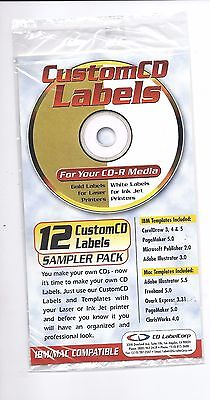 Cd / Dvd 12 Labels, Self Adhesive Create Your Own At Home