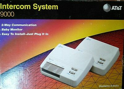AT&T Intercom System 9000 2 Way Communication Baby Monitor Just plug In ~ EASY!