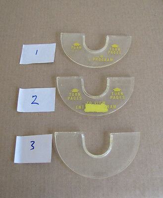 "Original Seeburg 3WA or 3W160 Wallbox ""Turn Pages"" Plastic Ring - #1, #2 & #3"