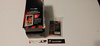 Lot Box of 25 Ultra Pro Screw Down 32pt Card Holder Hard Plastic Top Loader