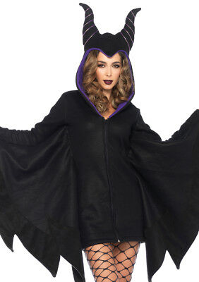 Leg Avenue Women's Cozy Villain Warm Zipper Fleece Dress Costume W/ Hood