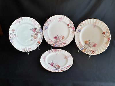 Spode Chelsea Garden R9781  Set of 3 DInner Plates and 1 Luncheon Plate