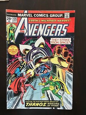 Avengers 125 127, 131, 136 Lot - Early Thinner Thanos Appearance Free Shipping