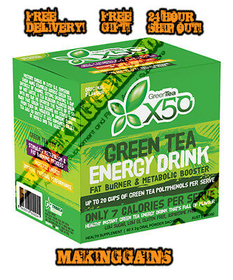 Tribecca Health X50 Green Tea 60 Serves |All Flavours| Only The Best@MAKINGGAINS