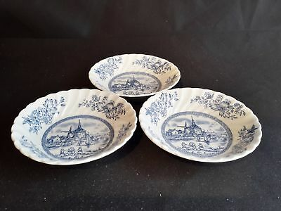 Johnson Brothers Tulip Time  Set of 3 Fruit Bowls
