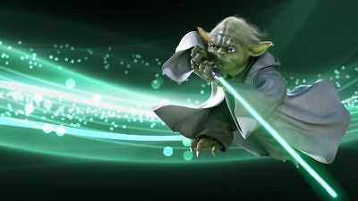 1/2 Sheet Cake Frosting Star Wars Yoda Birthday Party Edible Topper FROSTING