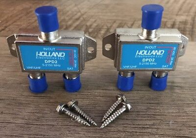 *NEW* Two Holland Electronics Diplexer DPD2- Dish Network Approved