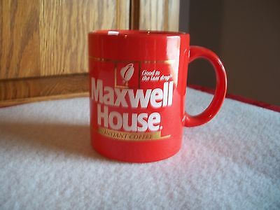 Vtg Maxwell House Red Coffee Cup Mug Instant Good To Last Drop Rare Japan 2 Avai