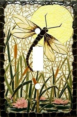 Beautiful Dragonfly - Decorative Decoupage Light Switch Covers - Made to Order