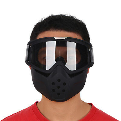 Motorcycle ATV Riding Face Dustproof Guard Mask Detachable Goggles Mouth Filter