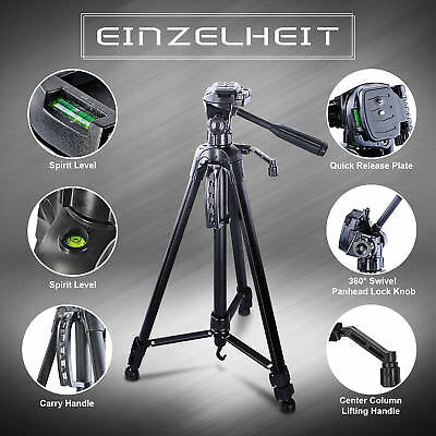 PRO Tripod Stand for Camera DSLR Camcorder Tilt Pan Head CANON NIKON