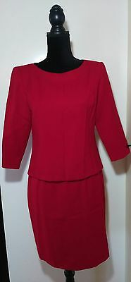 Talbots Women's Skirt Suit Red size 6 100% Wool Career Work