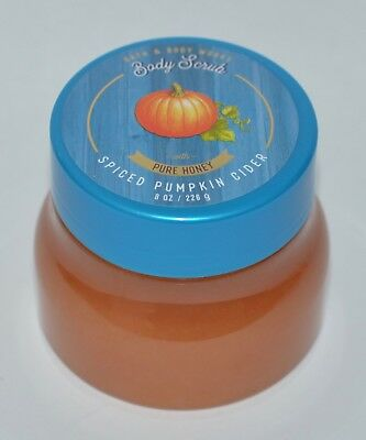 New Bath & Body Works Spiced Pumpkin Cider Body Scrub Wash Pure Honey 8Oz Sugar