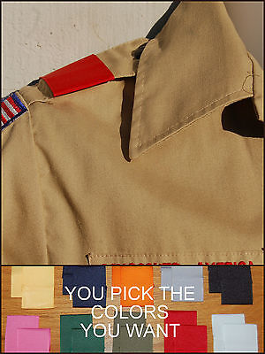 BSA Boy Cub Scout Uniform Shoulder Loops Epaulet New ANY COLOR - ANY QUANTITY!!!