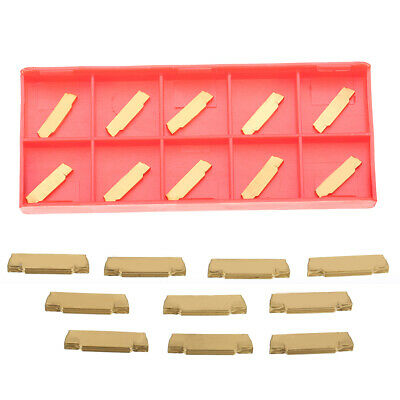 10Pcs MGMN200-G Golden Carbide Blade Insert For MGEHR/MGIVR Grooving Cutter Tool